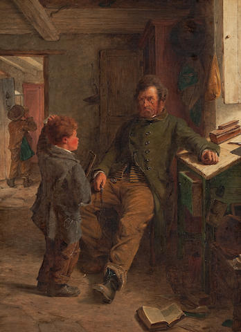Erskine Nicol R.S.A., A.R.A. (British, 1825-1904) Both Puzzled! 66 x 50 cm. (26 x 19 11/16 in.)
