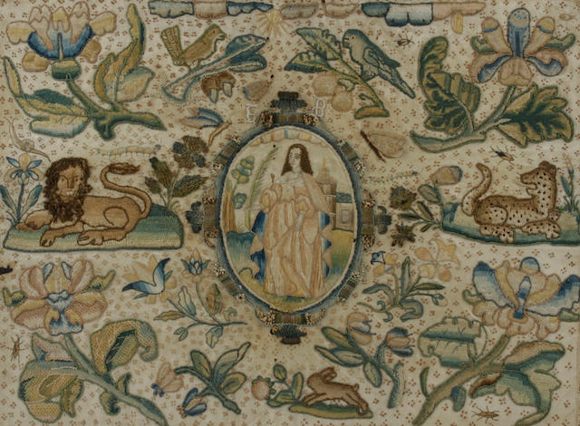 A mid 17th century stumpwork picture
