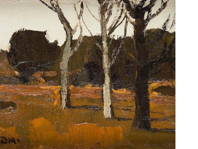 Donald McIntyre (British, 1923-2009) Trees Tyn-y-Maes No 1 15.75 x 18.5 cm. (6 3/16 x 7 5/16 in.)