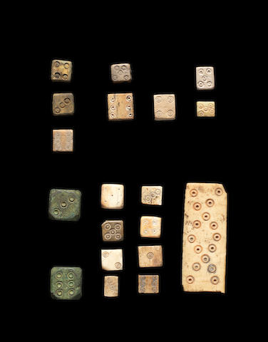 A collection of Roman dice 20
