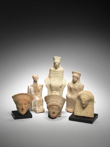 Six Greek terracottas 6