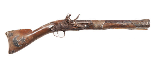 A Turkish Flintlock Blunderbuss and a Percussion Jezail