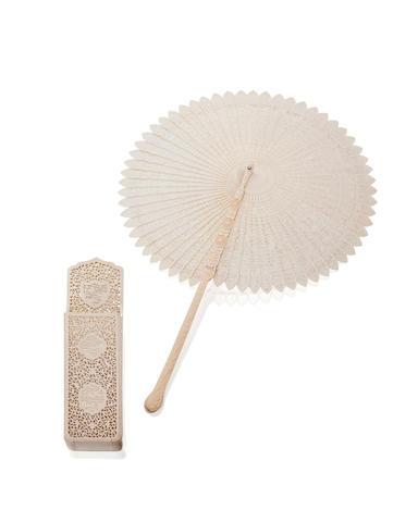 A fine ivory cockade fan Early 19th century