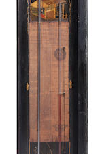 A George I parcel-gilt and black lacquer barometer