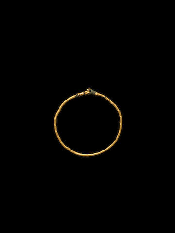 A Roman gold and bronze child's bracelet
