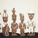 Six Yoruba figures by Thomas Ona Odulate of Ijebu-Ode 6
