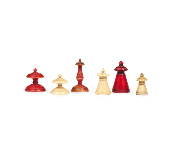 An Islamic ivory chess set, early 19th century,