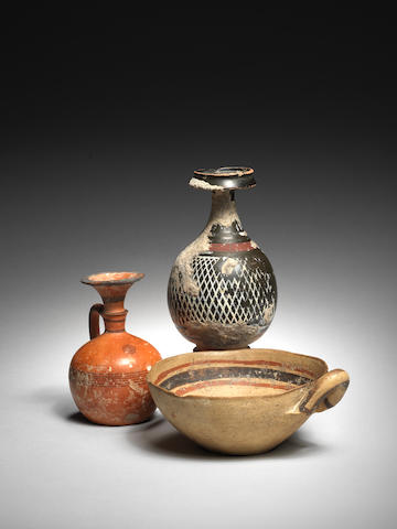 Three ancient terracotta vessels 3