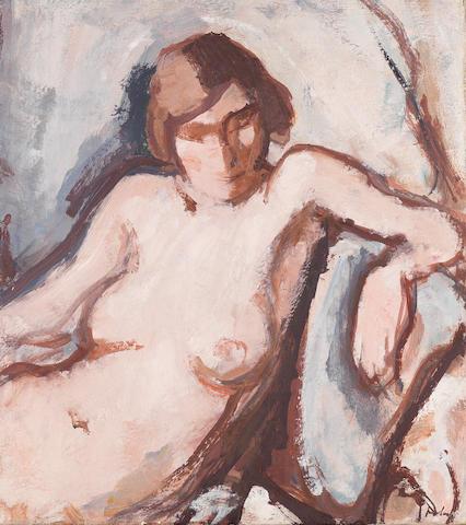 Samuel John Peploe, RSA (British, 1871-1935) Nude 45.7 x 40.6 cm. (18 x 16 in.)