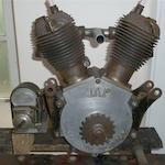 A 1927 JAP V-Twin 680cc side-valve engine,