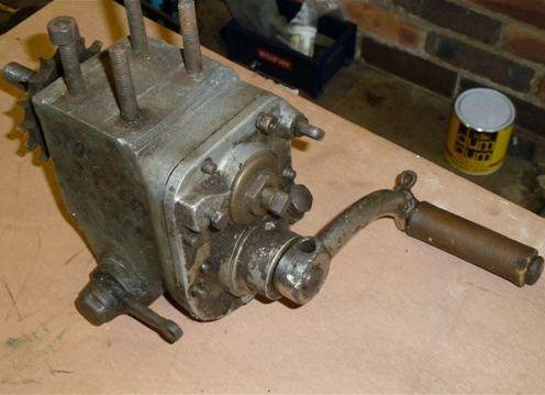 A pre-War Sturmey Archer gearbox,