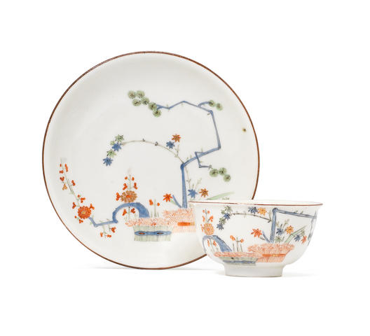 A Meissen teabowl and saucer from the Japanese Palace, circa 1730