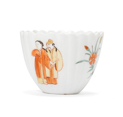 A Meissen lobed beaker from the Japanese Palace, circa 1730