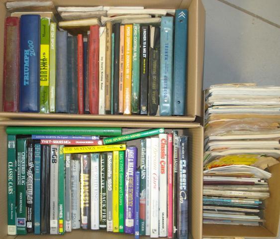 A quantity of assorted motoring literature,
