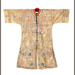 A Chinese embroidered robe, early 20th century
