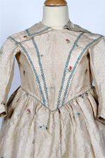 A child's silk dress, circa 1840s