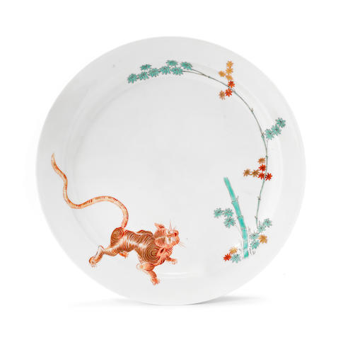 A Meissen plate from the Japanese Palace, circa 1730