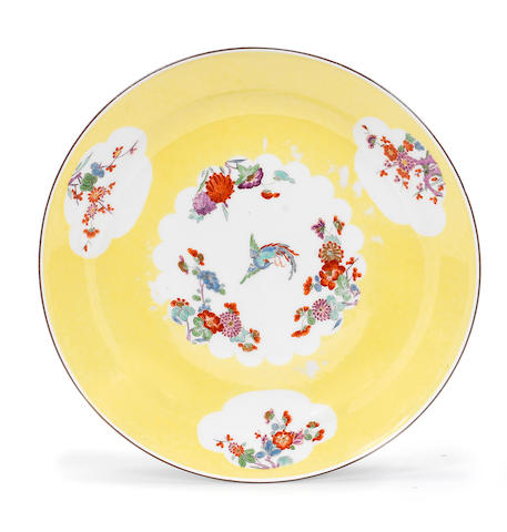 Another Meissen yellow-ground plate from the 'Gelbe Jagdservice', circa 1733-34