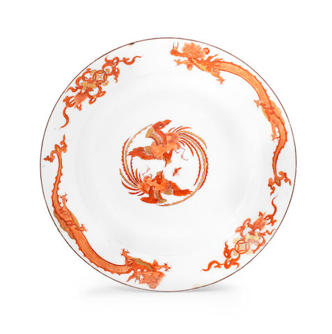 A Meissen plate from the 'Red Dragon' service, circa 1730
