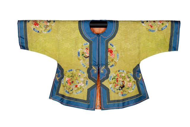 Three Chinese children's silk jackets