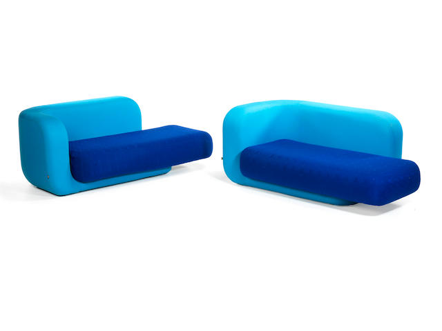 Tom Dixon Pair of Stretch Sofas 2006  Height: 75 cm.                29 1/2 in. Width: 175 cm.                68 7/8 in.
