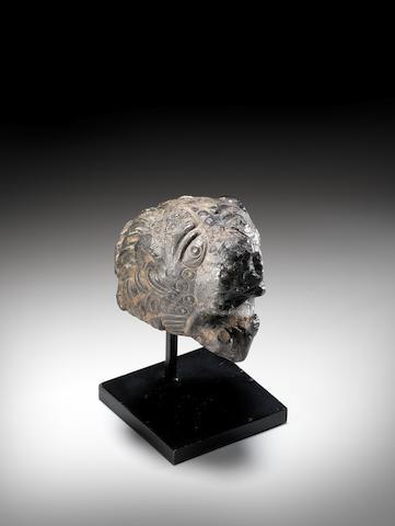 A Byzantine bronze lion head