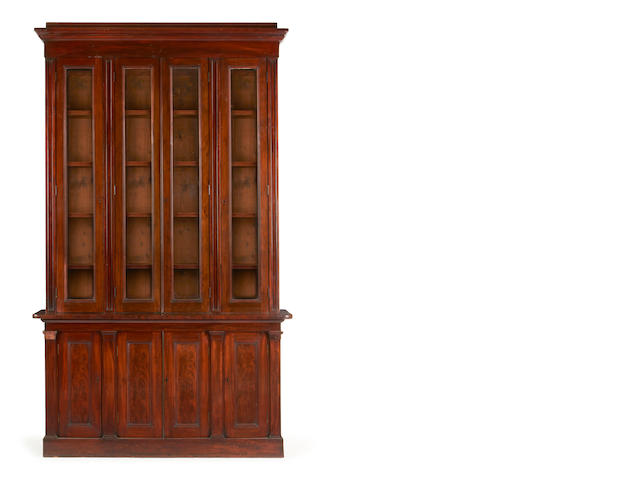 An early Victorian mahogany library bookcase
