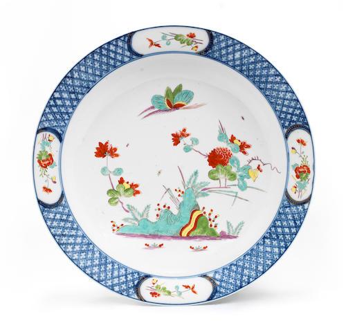 A rare Meissen circular dish, circa 1735