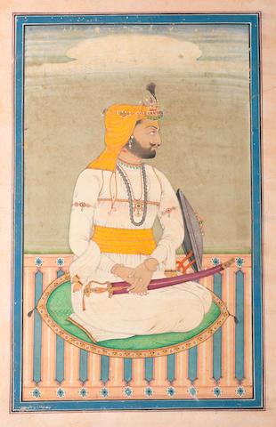 Maharajah Sher Singh of Lahore (1807-43), second son of Maharajah Ranjit Singh Punjab, circa 1840