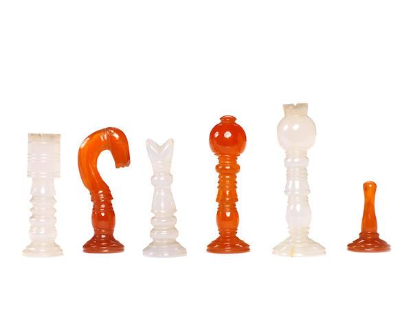 Indian hardstone chess set