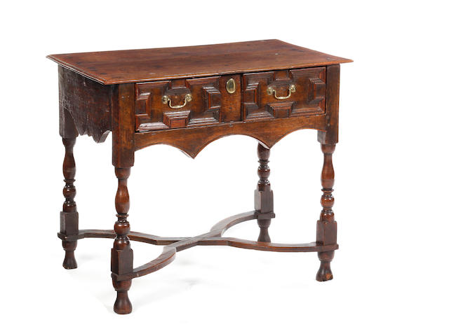 An oak side table Circa 1700 and later