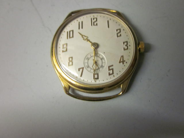 An 18ct Swiss gold watch head,
