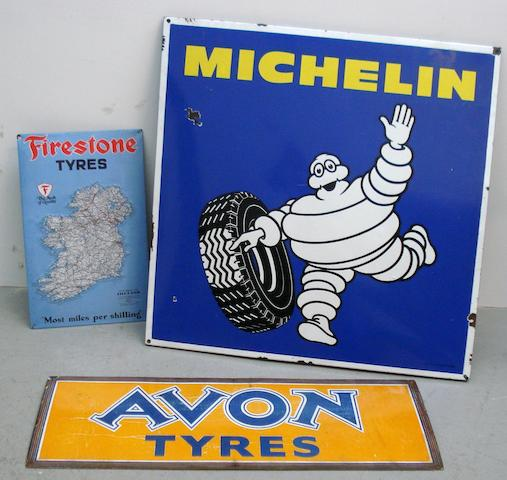 Three tyre signs,