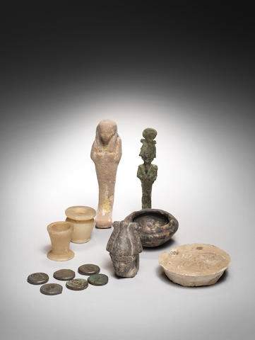 A group of Egyptian Antiquities  and other later artefacts, a lot