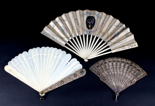 Three mixed fans, 18th - 20th century