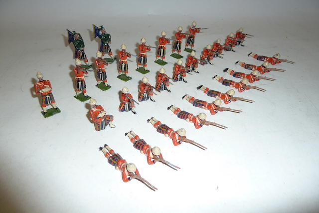 Britains set 89, Cameron Highlanders firing 30