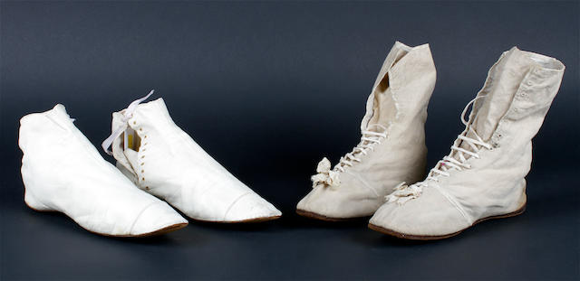 Two pairs of 1830-50s boots