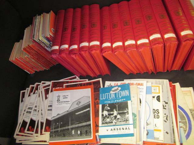 1950's onwards Arsenal handbooks and programmes
