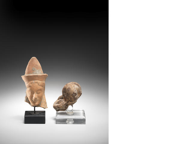 Two Classical terracotta heads 2