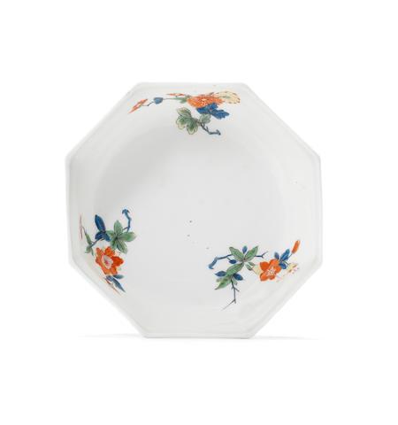 A Meissen rare octagonal dish circa 1730