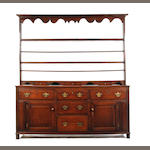 A George III oak high dresser  Yorkshire
