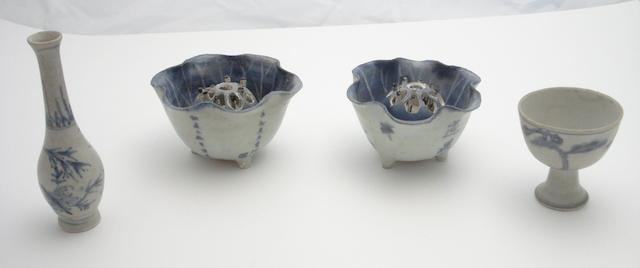 A collection of shipwreck porcelain Circa 1640 and later