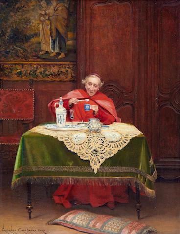 Georges Croegaert (Belgian 1848-1923) A sweet tooth