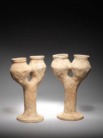 Two Anatolian terracotta double kernoi 2