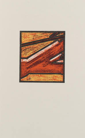 David Bomberg (British, 1890-1957) Russian Ballet The complete folio, 1919, with cover, title page, text and six lithographs printed in colours, published by the Bomb Shop (Hendersons), London, 218mm x 140mm (8 1/2in x 5 1/2in)(folio)