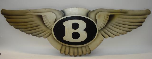 A Bentley emblem,