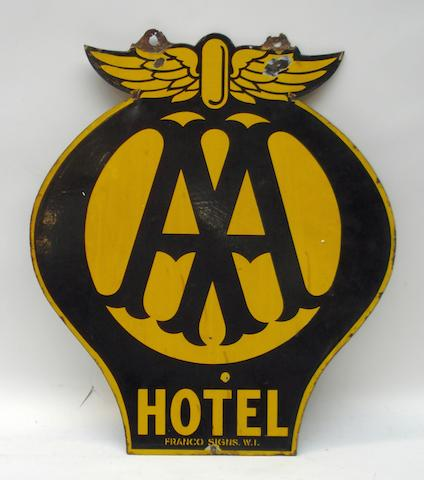 AA Hotel hanging sign,