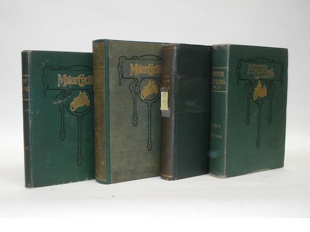 Motor Cycling; four bound Volumes XVIII, XXXII, XXXIII and LIII,