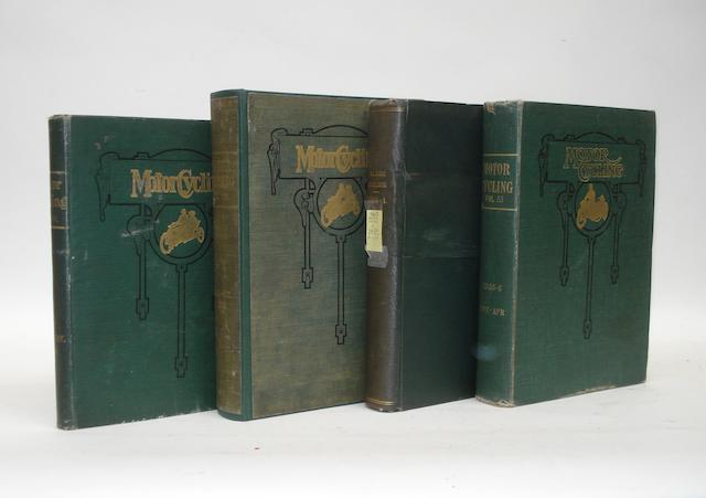 Motor Cycling; four bound Volumes XVIII, XXXII, XXXIII and LIII,