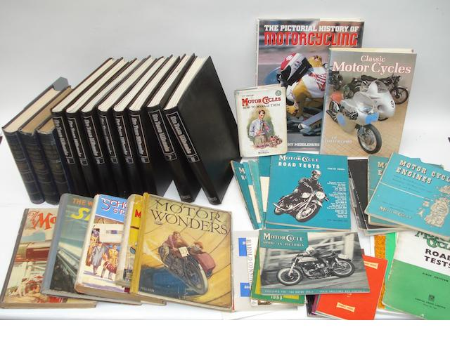 Assorted motocycling books and literature,